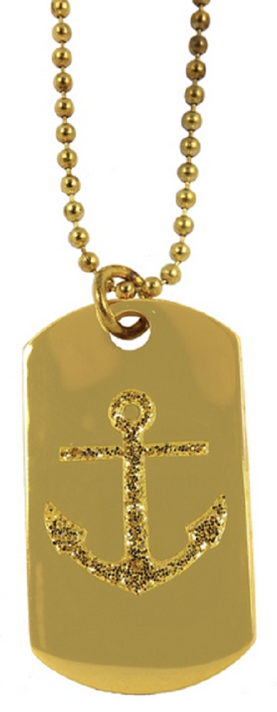 Women's Dog Tag - Navy Anchor