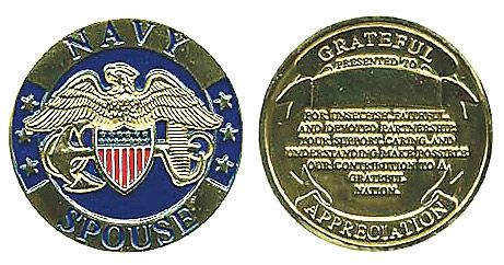 Navy Spouse Appreciation Coin