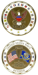 Challenge Coin - U.S. Navy Retired