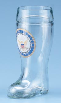 1L GLASS NAVY BOOT