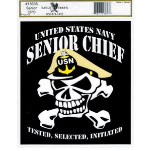 Decal - Senior Chief with Skull
