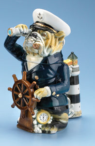 Sea Captain Bulldog Stein