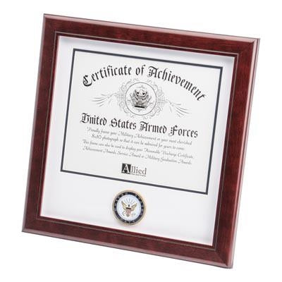 U.S. Navy Medallion 8-Inch by 10-Inch Certificate Frame