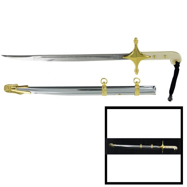 MARINE CORPS LETTER OPENER: OFFICER SWORD WITH SCABBARD