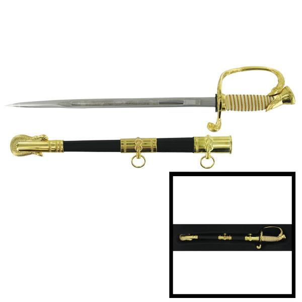 Navy Letter Opener: Navy Sword With Scabbard