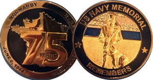 75th Anniversary of D-Day Commemorative Challenge Coin