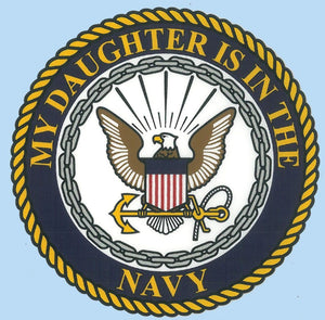 My Daughter is in the Navy Decal