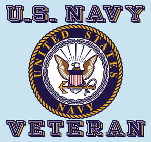 US Navy Veteran with Crest Logo Decal