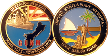 Operation New Life/Guam Lone Sailor Challenge Coin