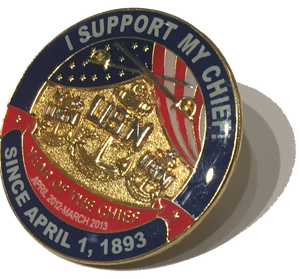 I Support My Chief! Lapel Pin