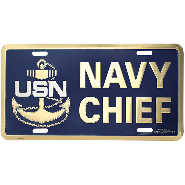 U.S. Navy Chief E-7 License Plate