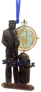 24 kt. Gold Finish Lone Sailor Ornament
