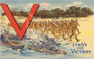 Vintage Victory Note Cards - Set of 8