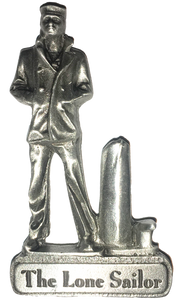 The Lone Sailor Pewter Magnet