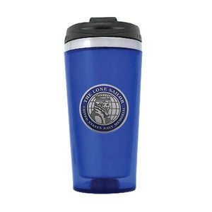 Navy Memorial Seal Blue Travel Mug