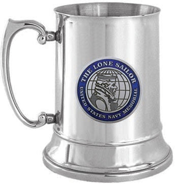 Navy Memorial Seal 19oz Steel Tankard