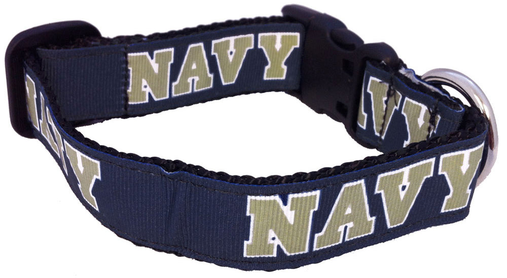 Navy Dog Collar