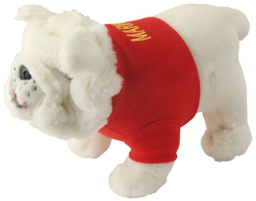 U.S. Marines White Plush Bulldog
