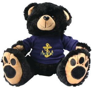"9"" USN Plush Bear - Black"
