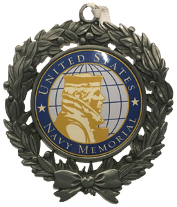 US Navy Memorial Sublimated Ornament