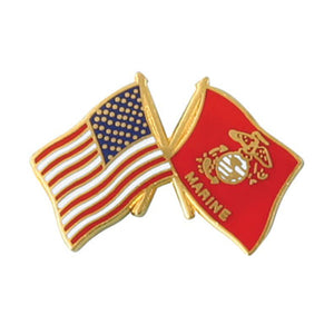 USA/USMC Crossed Flags Pin