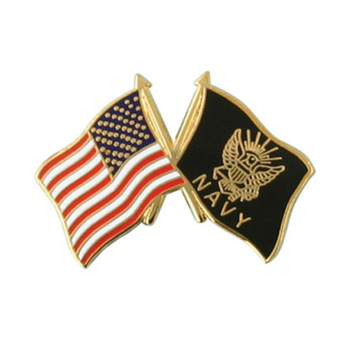 USA/USN Crossed Flags Pin
