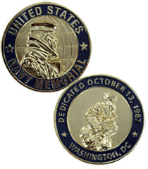 Official US Navy Memorial Challenge Coin
