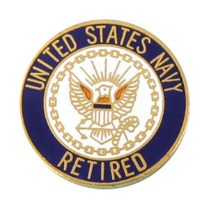 USN Retired Pin