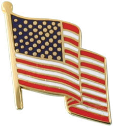 Waving US Flag Pin