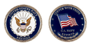 US Navy Retired - Served with Pride Coin