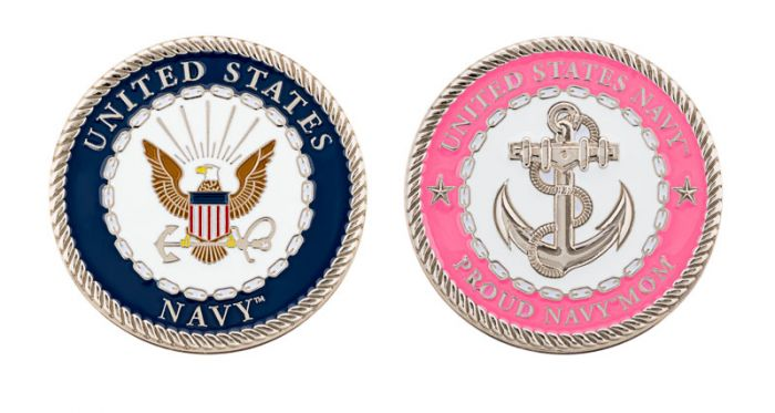 US Navy Proud Mom Coin