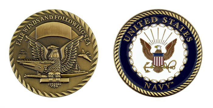US Navy - Fairwinds and Following Seas Coin