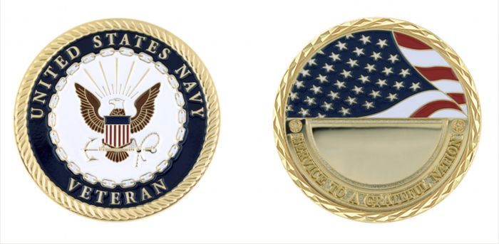 US Navy Veteran Coin