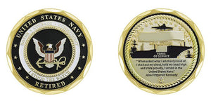 US Navy Retired - I Stood the Watch Coin