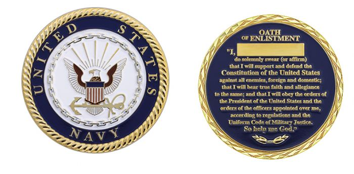 US Navy Oath of Enlistment Coin