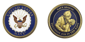 US Navy Spouse Coin