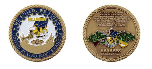 Navy Seabee Coin
