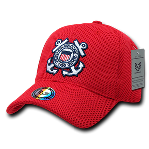 Air Mesh Military Caps,Coast Guard, Red