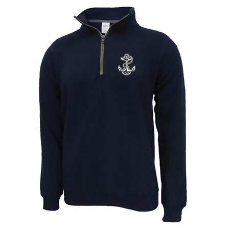 Navy Logo Quarter Zip Fleece