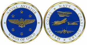 Challenge Coin - Naval Aviator, Wings of Gold