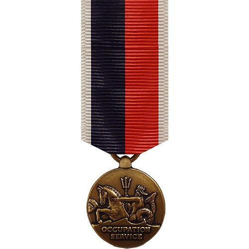 Miniature Medal: Navy And Coast Guard Occupation WWII