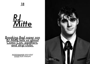 Founder of Mr Mullan's Apothecary styles RJ Mitte for Jon Magazine.