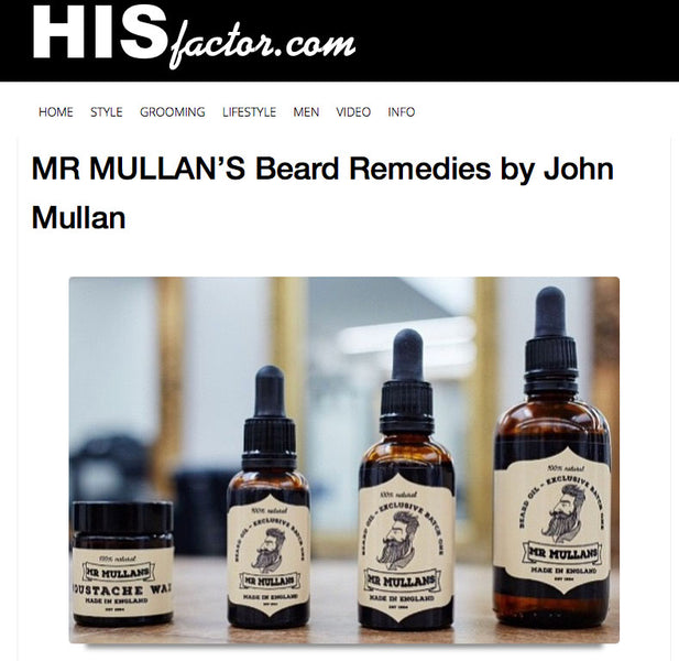 An Introduction : Mr Mullan's Grooming Products