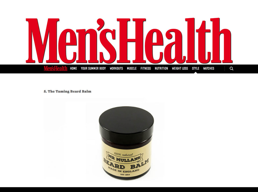 beard balm recommended by mens health magazine