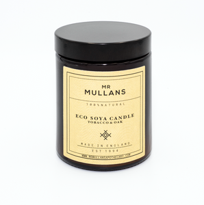 MR MULLAN'S SCENTED CANDLES (four scents available) 200g, candle, Mr Mullan's, mrmullansapothecary, Tobacco & Oak, Tobacco & Oak, [option2], [option3]. We recommend using the default value. Default value is: MR MULLAN'S SCENTED CANDLES (four scents available) 200g - mrmullansapothecary.