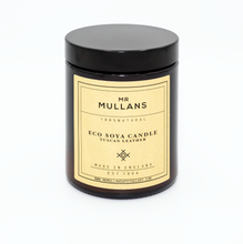 MR MULLAN'S SCENTED CANDLES (four scents available) 200g, candle, Mr Mullan's, mrmullansapothecary, Tuscan Leather, Tuscan Leather, [option2], [option3]. We recommend using the default value. Default value is: MR MULLAN'S SCENTED CANDLES (four scents available) 200g - mrmullansapothecary.