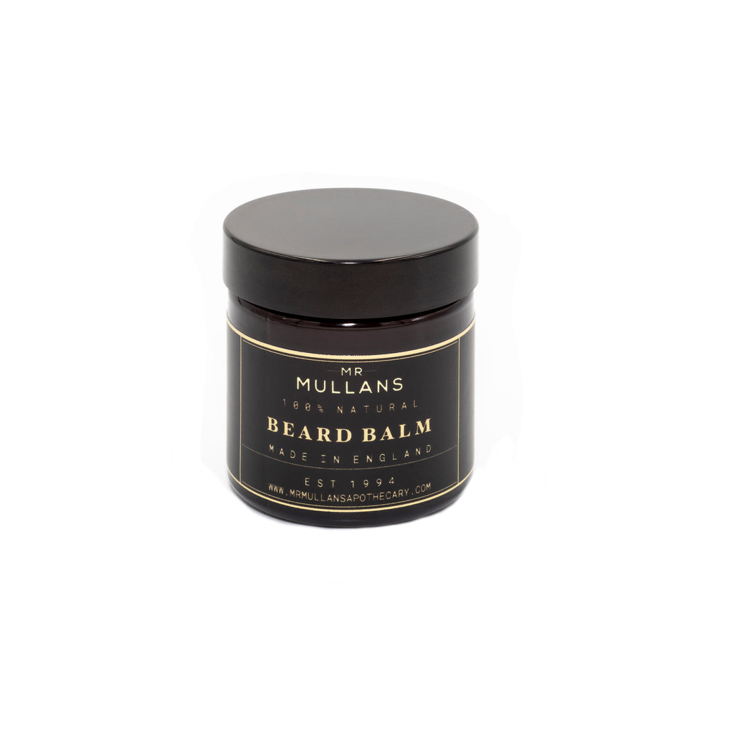MR MULLAN'S BEARD BALM, beard, Mr Mullan's, mrmullansapothecary, [variant_title], [option1], [option2], [option3]. We recommend using the default value. Default value is: MR MULLAN'S BEARD BALM - mrmullansapothecary.