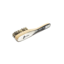 mens natural bristle boar bristle grooming brush for beard. Ox horn gentleman's pocket brush