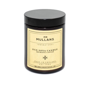 MR MULLAN'S SCENTED CANDLES (four scents available) 200g, candle, Mr Mullan's, mrmullansapothecary, Aromatic Coffee, Aromatic Coffee, [option2], [option3]. We recommend using the default value. Default value is: MR MULLAN'S SCENTED CANDLES (four scents available) 200g - mrmullansapothecary.