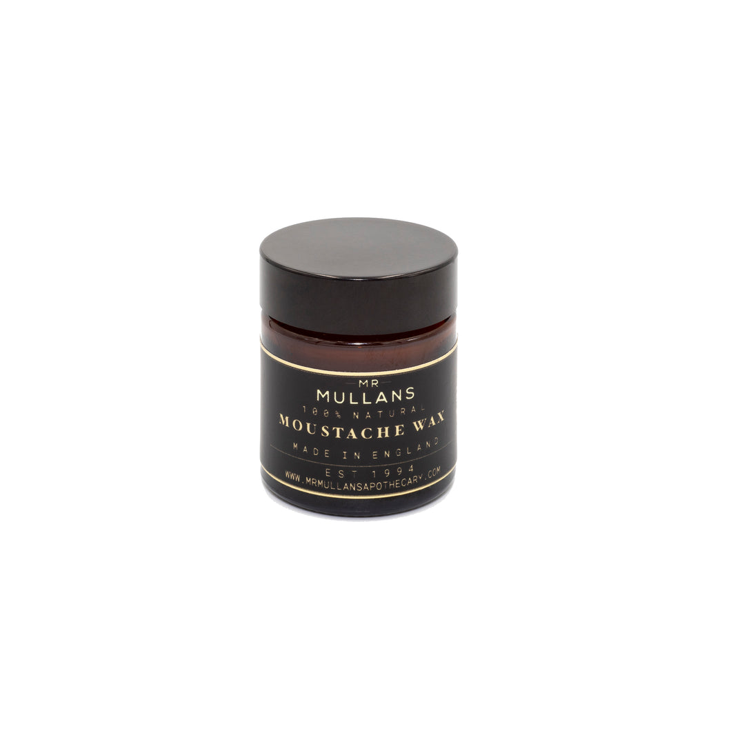 MR MULLAN'S MOUSTACHE WAX, tash wax, Mr Mullan's, mrmullansapothecary, [variant_title], [option1], [option2], [option3]. We recommend using the default value. Default value is: MR MULLAN'S MOUSTACHE WAX - mrmullansapothecary.